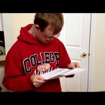 WATCH - Down Syndrome Student Gets Great News In The Mail