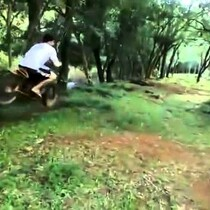 The Redneck Dirt Bike Rope Swing