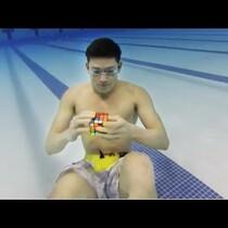 WATCH: Dude Solves Rubik's Cube Underwater!