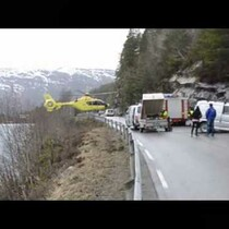 WATCH: AMAZING footage of helicopter balancing on guardrail