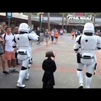 Stormtroopers Escort Mini Kylo Ren Through Disney World's Star Wars Attraction