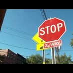 WATCH 100 drivers blow through one stop sign in 90 minutes!