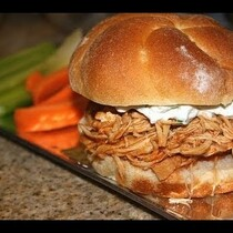 Buffalo Chicken Sliders!  CROCK POT RECIPE