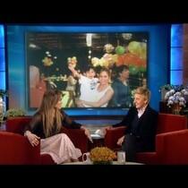 Jennifer Lopez gets germs all over Ellen DeGeneres!
