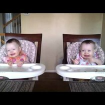 11 Month Old Twins Dancing to Daddy's Guitar.