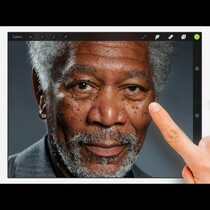 VIDEO: Morgan Freeman art on iPad