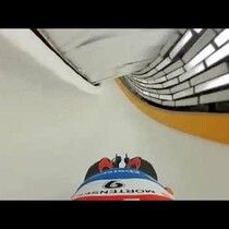 VIDEO: What it's like to luge in the Olympics