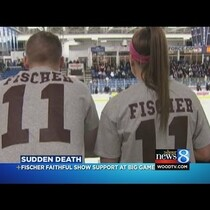 Fans Remember Grandville Hockey Player - Ryan Fischer courtesy of WOOD-TV 8