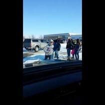 Dad Takes Video Of Kids Falling On Ice Outside Of School