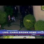 Police Outside Chris Brown's Home - Allegedly Threatened Woman With Gun