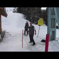 Hilarious Ski Lift Fail