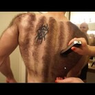 Transfixing Video Shows Body Builder Shaving