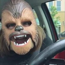 Woman in a Chewbacca Mask Breaks a Facebook Record