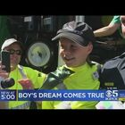 Terminally Ill Boy in Northern California Gets His Wish To Be A Garbage Man For The Day