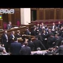 WATCH: Fistfight Erupts in Ukraine Parliament