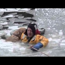 Dog Rescued From Spring Thaw Ice...Just One More Reason To LOVE our Firefighters!