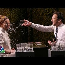Tonight Show Water War With Lindsay Lohan!
