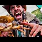 Guy Gets Pinched By Huge Crab...On Purpose...