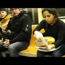 WATCH: Icing A Cake On The Subway