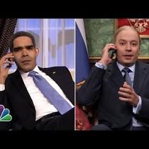 Obama and Putin Phone Call on 'Tonight Show'