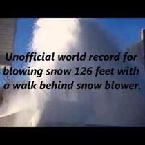 The 400 plus Horsepower Snow Blower!