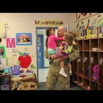 Military Dad Surprises His 4-year-old