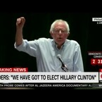 VIDEO: Bernie urges support for Hillary to a raucous round of boos at the DNC