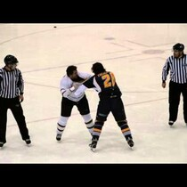 Hockey Fight Ends With High Fives