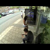 WATCH:  Bus Stop Photoshop Prank Surprises Commuters