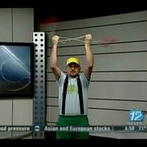 Guy Fakes Yo-Yo'ing on Live News Broadcast
