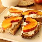 Friday's Recipe: Peach Brulee Burratta Bruschetta!