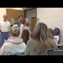Cam Newton Receives Valentine Singing Telegram in Auburn University