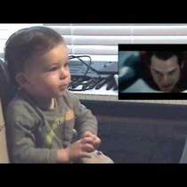 Baby's Awesome Reaction To Seeing Superman Fly