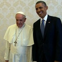 President Obama visits the Pope for 1st time @ Vatican.