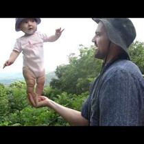 Meet The Incredible Balancing Baby And Her Incredibly Careless Father!