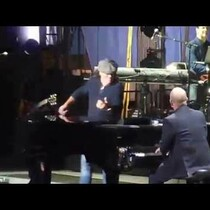 AC/DC's Brian Johnson joins Billy Joel in New York