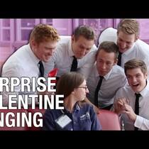 Surprise Valentines Singing!