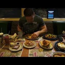 Dude eats his way through the ENTIRE 'Hobbit' menu at Denny's .. in 20 minutes!