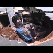 RAW: SInkhole at Corvette Museum.