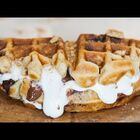 VIDEO!  How To Make Waffle S'mores!  YUM!!