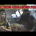Man Starts Smoldering During A Hot Wings Challenge (Video)