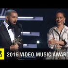 Drake presents Rihanna Vanguard award and professes his love for her