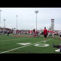 WATCH: Brutus the Buckeye gets crushed in spring practice