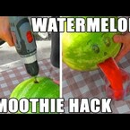 If You Have a Watermelon and a Power Drill, Try This!