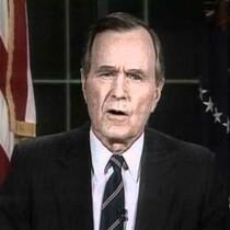 VIDEO: President Bush Announces Liberation of Kuwait