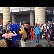 Impromptu Dance Circle at MegaCon 2014