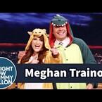 Meghan Trainer & Jimmy Fallon Match in Onesies (VIDEO)