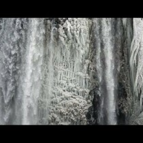 SEE WHAT THE COLD DID TO NIAGRA FALLS!