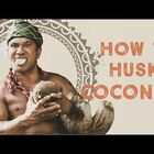 The Coolest Way To To Husk And Open A Coconut!!!