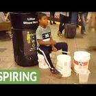 NYC Kid Plays Some Mean Drums in Subway